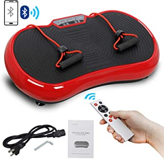 Crazy Work Out Fit Full Body Vibration Platform Massage Machine Fitness W/Bluetooth Red