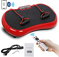 SUPER DEAL Crazy Work Out Fit Full Body Vibration Platform Massage Machine Fitness W/Bluetooth Red