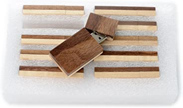 10 16GB Flash Drive - Bulk Pack - USB 2.0 Wooden Grove Design - Walnut Front With Maple Back