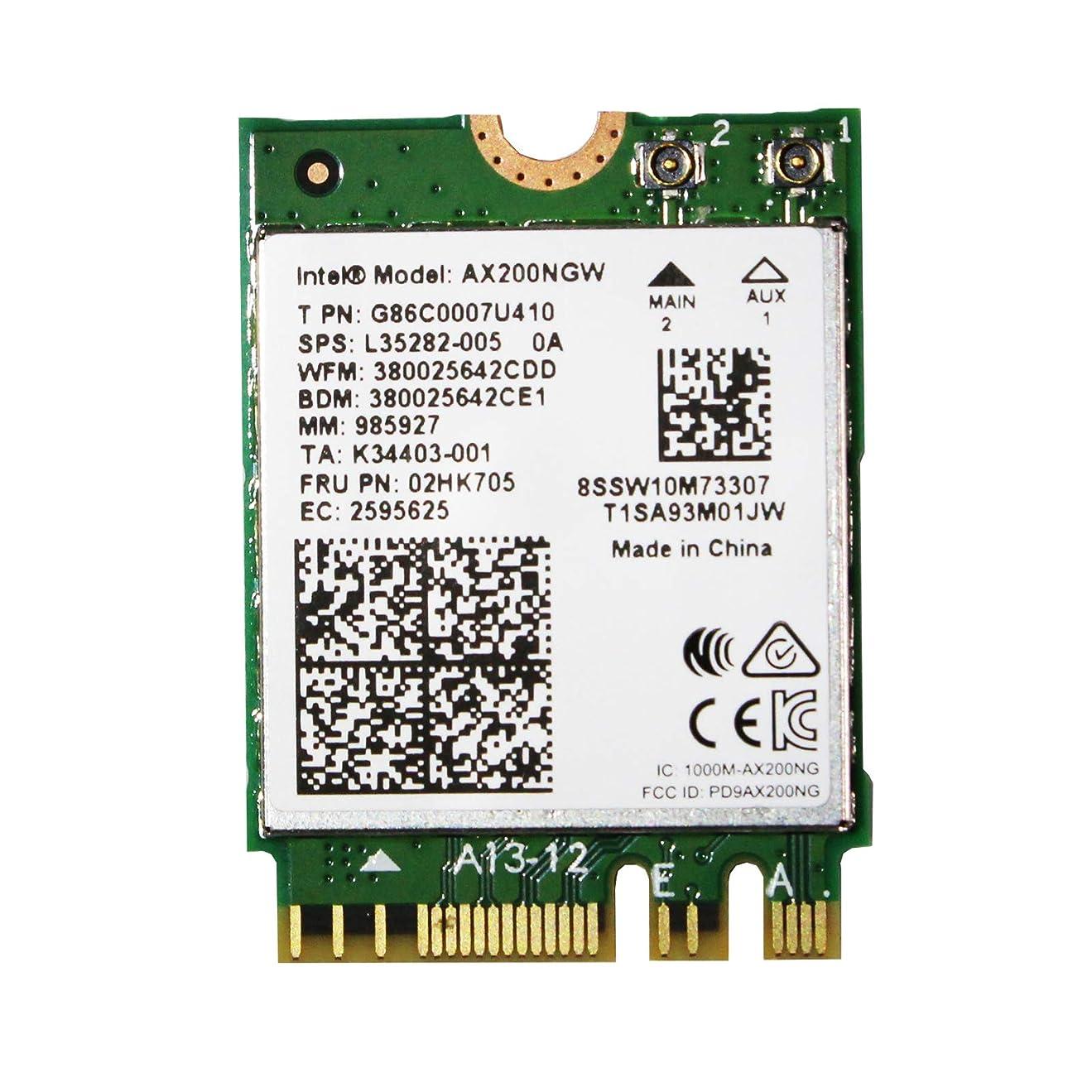 辞任する仕様気候の山Intel インテル AX200 NGW 802.11ax (2,400Mbps) Wi-Fi 6 & Bluetooth5 (M.2 WiFiカード)