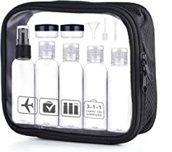 Travel Size Bottle Containers Tsa Approved, 2 oz Small Plastic Bottles Squeeze and Refillable Container for Toiletries