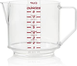 Arrow Plastic 02802 One Cup Measure, Clear with Engraved Graduate, 1 Count (Colors may vary)