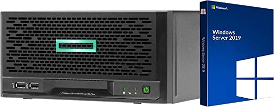 HP MicroServer Gen10 Plus Tower Server for Small Business, Intel Xeon E-2224 3.4GHz up to 3.4GHz Turbo, 32GB RAM, 4TB Fast SSD Storage, RAID, Windows Server 2019