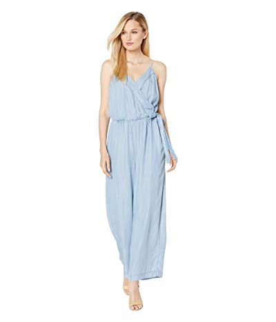 Vince Camuto Sleeveless Lyocell Wrap Front Side Tie Jumpsuit (Bayside Wash) Women