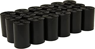 """FiveStarPet 9"""" x 14.25"""" Dog Waste Bags with Dispenser, 18 Refill Rolls, 270 Count, Black"""