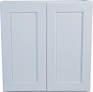 Design House Brookings 27-Inch Wall Cabinet, White Shaker