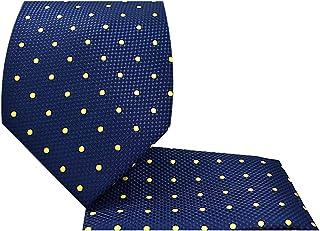 Oliver George Men's Polka Dot Necktie Handkerchief Set Woven Dot Tie Set