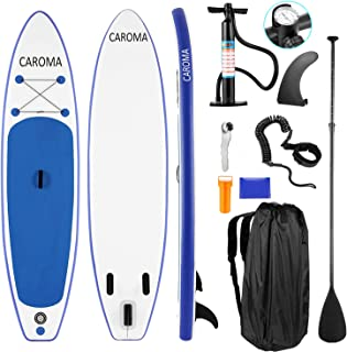 Caroma Inflatable Stand Up Paddle Board, Premium SUP with Accessories & Backpack, Non-Slip Deck, Leash, Paddle and Hand Pump