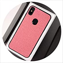 Luxury Cloth Fabric Phone Case for Xiaomi Pocophone F1 MI 5X 6X A1 A2 lite 8 SE Mix 2s Max 3 Redmi 5 Plus S2 6A Note 6 Pro Cover,Pink,Redmi 6 Pro
