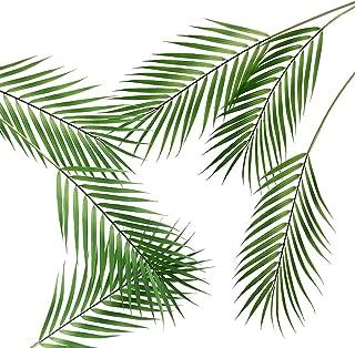 6 Pcs Artificial Tropical Palm Leaves Faux Monstera Leaves Plastic Palm Leaf Greenery for Home Luau Wedding Decor