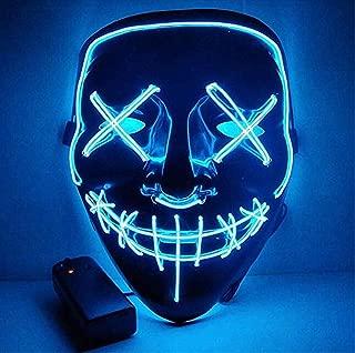 blue light up purge mask