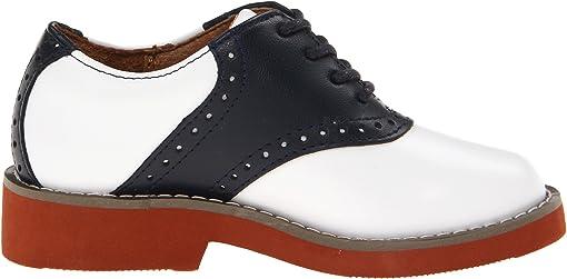 White/Navy Leather