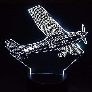 3D Llevó La Decoración Del Hogar 7 Cambio De Color Helicóptero Modelado Lámpara De Mesa Aviones Aéreos Lámpara De Noche Avión De Aire Noche Luz Regalos