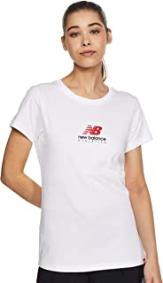 New Balance Women Essentials Icon Stacked Nb Tee Top
