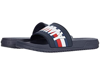 Tommy Hilfiger Kids Geo GS Slide (Little Kid/Big Kid) (Navy Molded) Kid