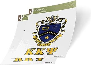 Desert Cactus Kappa Kappa Psi Crest & Letter 2-Pack Sticker Decal Greek for Window Laptop Computer Car KKPsi (Crest Sticker)