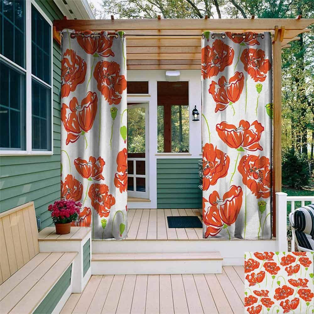 DONEECKL - Cortina Impermeable para Exteriores, diseño de Paisaje de Pintura de Acuarela de la Antigua casa en una Colina con Escalera de Piedra aislada con Arandelas para recámara: Amazon.es: Jardín