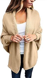 Astylish Women Open Front Long Sleeve Chunky Knit Cardigan Sweaters Loose Outwear Coat S-XXL