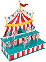 Circus Tent Shaped Lollipop Stand - Circus Party Supplies (Holds 48 Suckers)