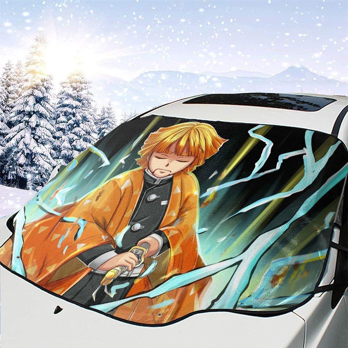 Awhgbnl Ds Zenitsu Anime Max 88% OFF Car Ranking TOP12 Snow Manga Design Windshield Cover