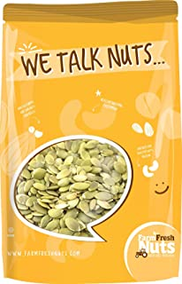 Farm Fresh Nuts PEPITAS SHELLED / PUMPKIN SEEDS Himalayan Salted Dry Roasted (1 LB)