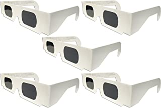 The Eclipser Safe Solar Eclipse Glasses CE Certified - 5 Pack White