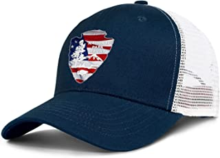 Women Young Men Baseball Cap Logo Adult National-Park-Service-American-Flag- Adjustable Flat Cap Sandwich Brim Hat