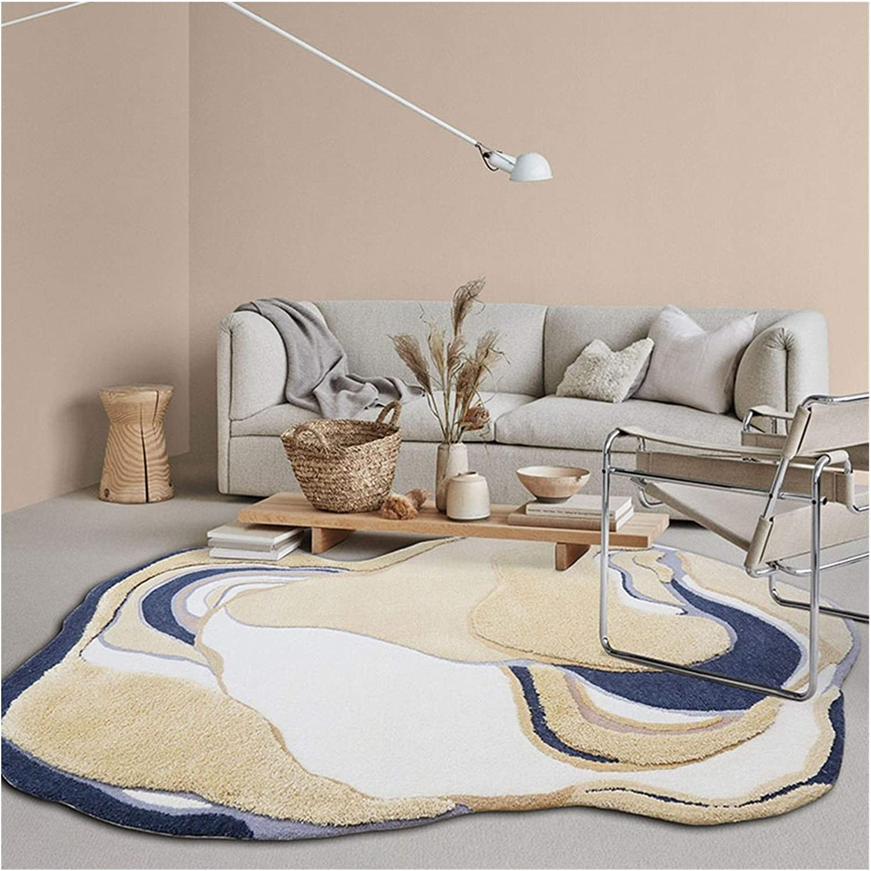 Arlington Mall YAMIA Rugs Soft Fluffy Area Handmade Carpet Inexpensive Irregular Wool