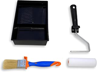 TECPINT KIT MUEBLES Mini Rodillo de Pintura con Cubeta y Pincel - Para pintar con Pintura a la Tiza - Pintar Muebles - Cal...