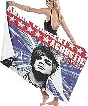 Kaihngl Adam Lambert Acoustic Live Oversized Towels for Men and Women Beach Towels Bath Towels, Fast Drying Super Absorbent Super Light Towel Towel