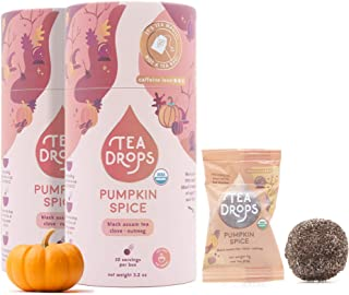Pumpkin Spice Tea Drops | Sweetened Organic Loose Leaf Tea Gift Set | 20 Caffeinated Servings