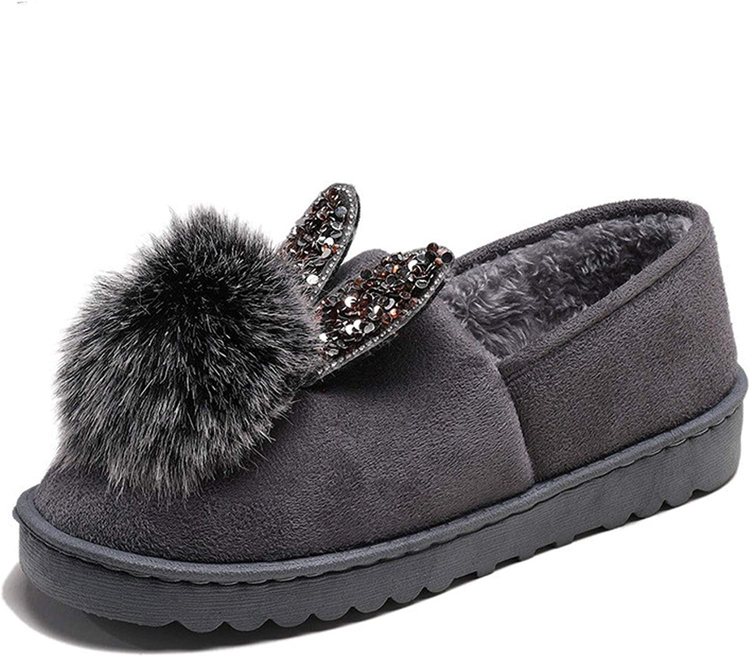 Women Snow Boots Flat Winter Casual shoes Woman Bling Sweet Platform Round Toe Slip On able