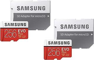 Samsung 256GB EVO Plus Class 10 UHS-I microSDXC U3 with Adapter (MB-MC256GA) (2 Pack)