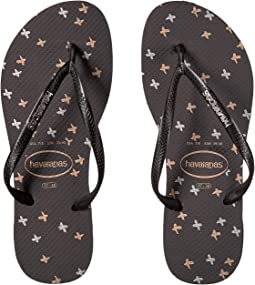 68e27c6e174931 Havaianas slim graphic flip flops black black cow silk
