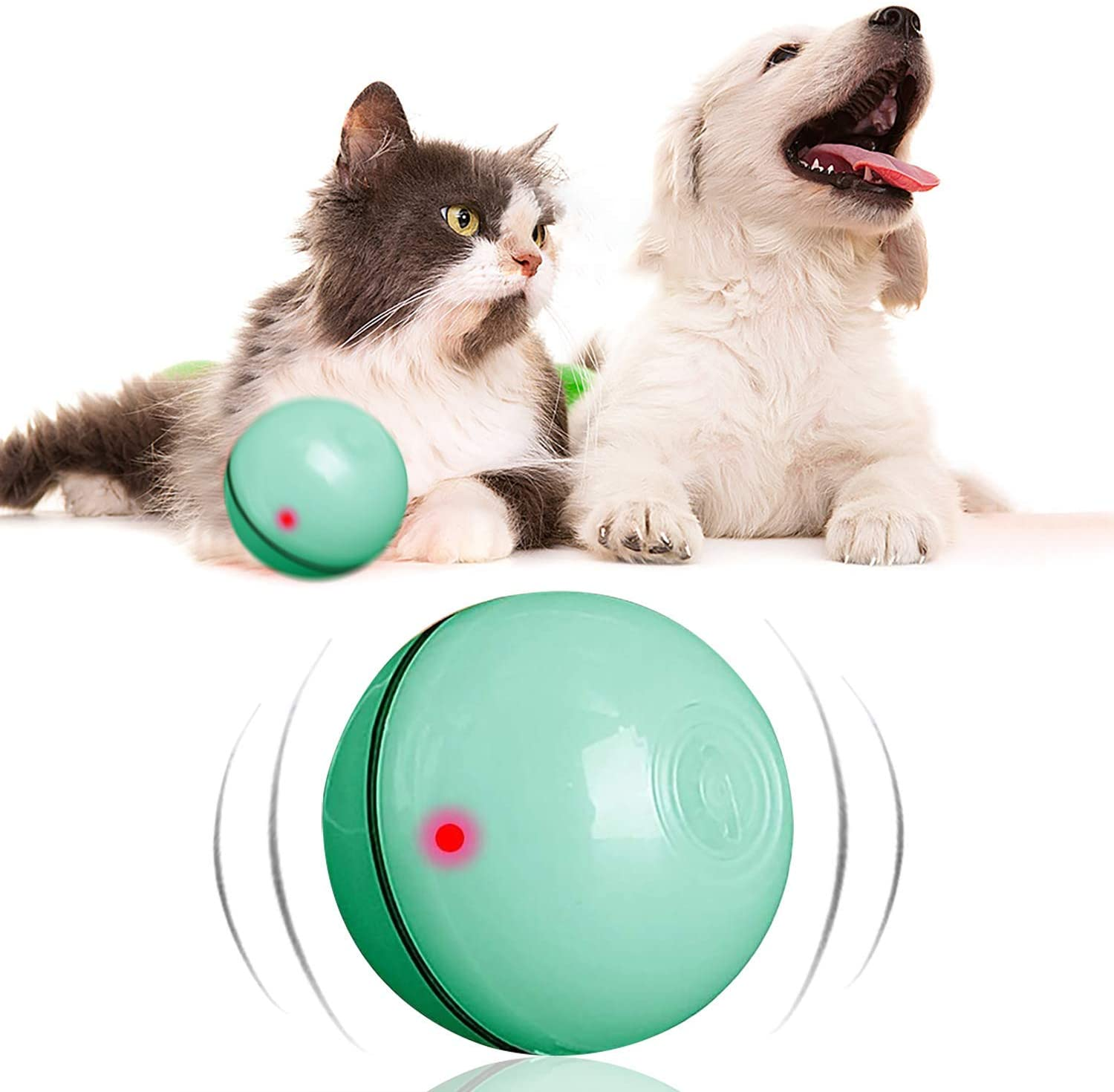Amazon.com: Magic Roller Ball Toy Automatic Roller Ball Magic Ball for Dog  1 Rolling Ball 4 Color Ball Cover Cleaning Home Dog Toys Balls: Kitchen &  Dining