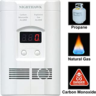 Kidde AC Plug-in Carbon Monoxide and Explosive Gas Detector Alarm | Nighthawk Sensor Technology | Model # KN-COEG-3