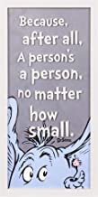 Patton Wall Decor Dr. Seuss Horton Person 10x20 Print On Glass Framed Wall Art, Grey
