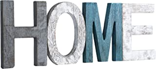 Rustic Wood Home Sign Decor, Home Decor Word Signs, Freestanding Decorative Cutout Word Table Decor Centerpiece, Multicolor