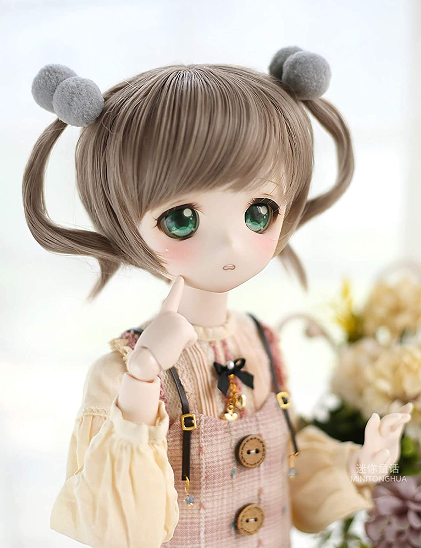 BJD doll SD doll  Cute curly Hair  Wig for 13 SD 14 msd 16 yosd  doll wig