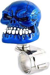 Arenbel Steering Wheel Spinner Knob, Skull Head Style Suicide Knobs for Car fit Most Vehicle Steering Wheels, Blue