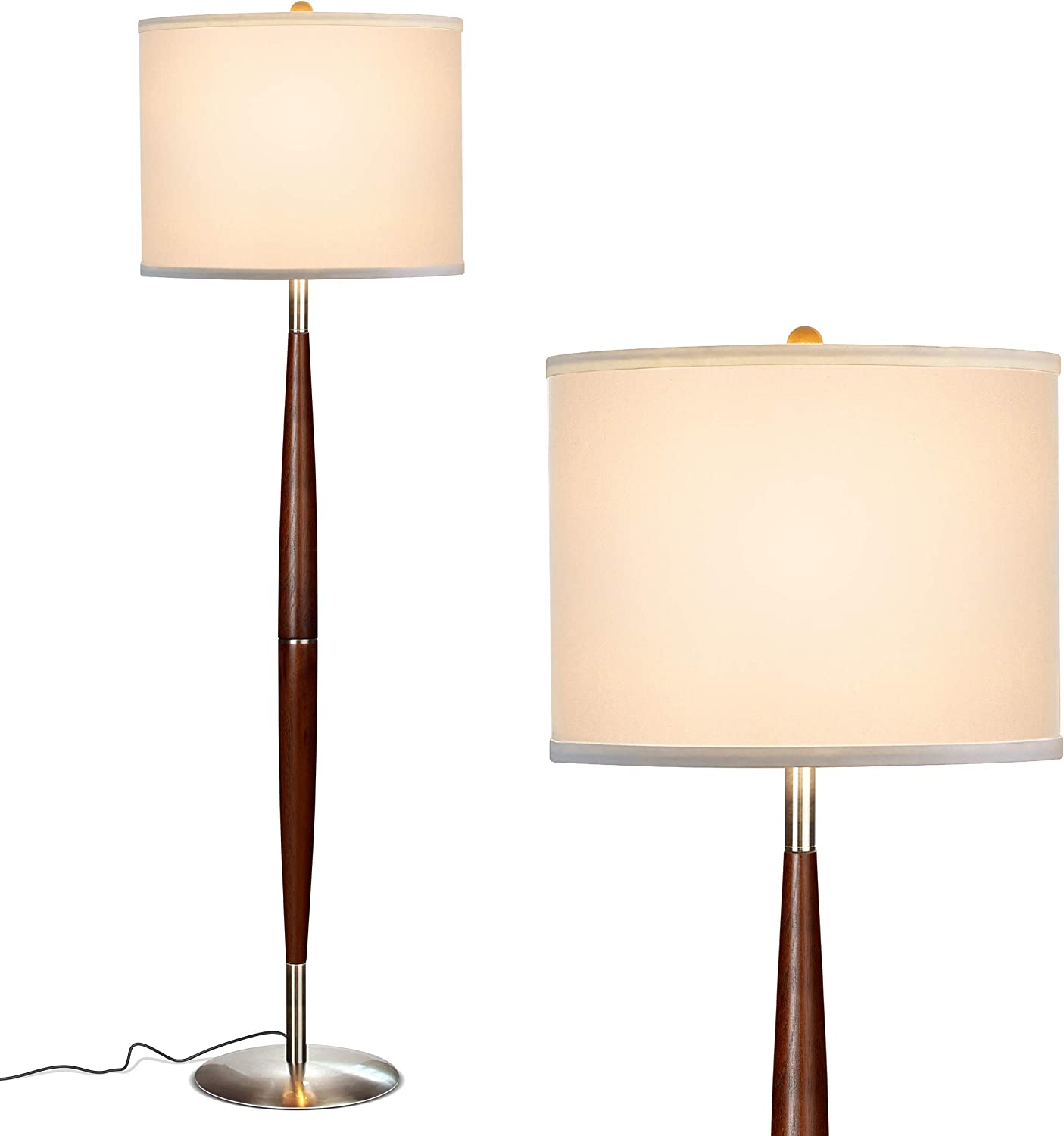Brightech Lucas - Mid Century Spring Selling and selling new work Modern Floor Read Lamp Bedroom for