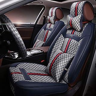 Peugeot 206/207/Sports Pack fundas de asiento de coche color negro y azul cubierta de volante almohadillas de cintur/ón de asiento