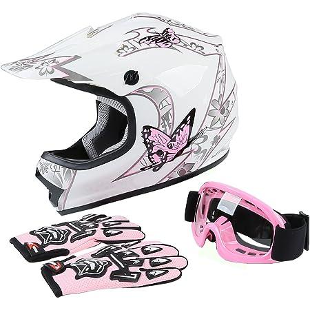 + Goggles } Red Leopard Kids Children Motorbike Motocross Set { CAMO Suit XXL 12-13 Yrs + Helmet /& Gloves XL 55cm