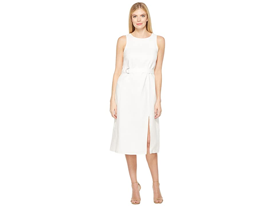 cb81bdeb05d28 Ellen Tracy Belted Column Dress (White) Women