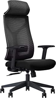 Daqian Modern Ergonomic Chair Home Executive Office Chair Wide Seat With Large Headrest Adjustable Seat Height, Lumbar Sup...