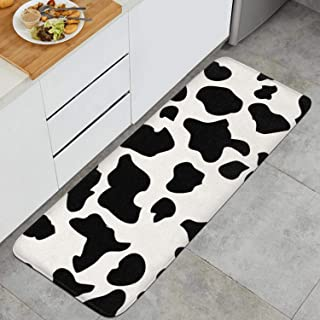 120x45cm Cow Print Cattle Skin Non-Fading Indoor Outdoor Kitchen Mats Doormat
