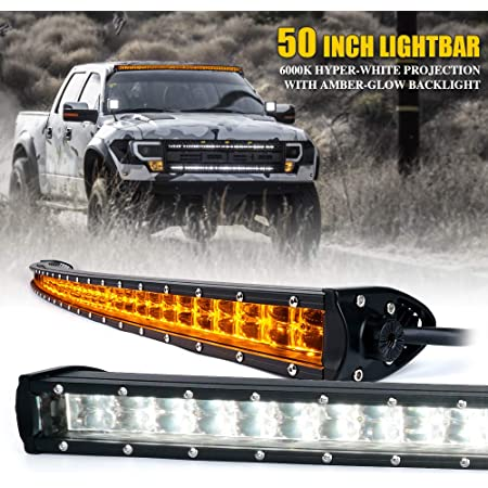 288W 50inch 4D Opticals Curved Led Light Bar Combo Offroad ATV Truck+Wiring Kit