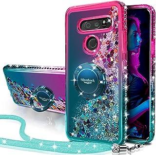 Silverback Compatible for LG V30 Case,LG V30 Plus/V30S, Moving Liquid Holographic Sparkle Glitter Case with Kickstand, Bli...