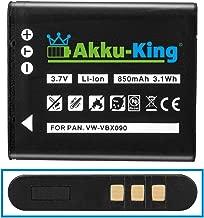 Akku-King Battery compatible with Olympus Li-50B Li50B  RICOH DB-100  Pentax D-Li92  Panasonic VW-VBX090 Li-Ion 850 mAh