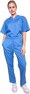 Professional Medical Uniform Women and Men V-Neck Scrubs Set